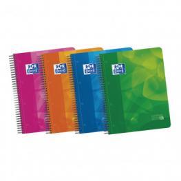 Oxford Cuaderno Polipropileno School 120H A4 Cuadricula 5X5 Surtido 400027277