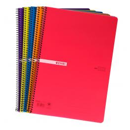 Cuaderno Enri A5 Tapa Plastico 4X4 80H
