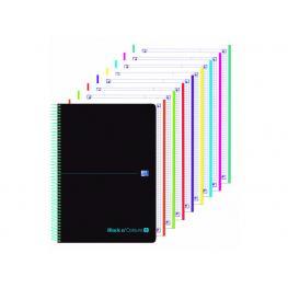 Oxford Cuaderno 8T Plástico A4+160H 5X5 Azul 400088489