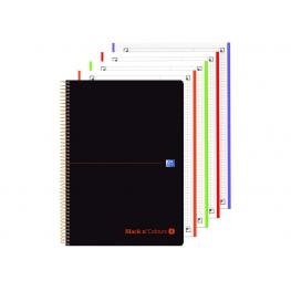 Oxford Cuaderno 4T Plástico A4+80H 5X5 Naranja 400088499