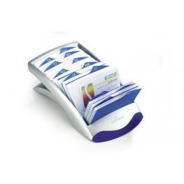 Durable Tarjetero Visifix Desk Vegas Plástico 72X104Mm Capacidad 200 Fichas Negro 826680