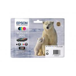 Epson Cartucho Inyeccion 26Xl Negro+Tricolor Blister Pack 4 C13T26364010