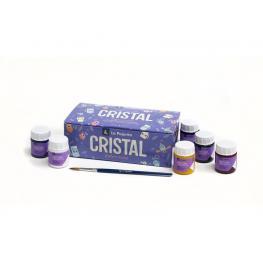La Pajarita Pintura Cristal Agua Caja 6 Ud + Pincel 999994