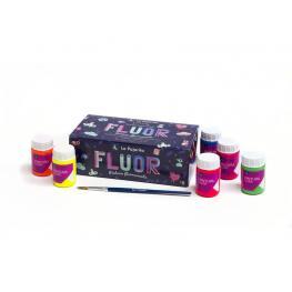 La Pajarita Pintura Al Agua Fluor +Pincel 119397