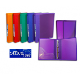 Officebox Carpeta Pp 4 Anillas D-25 Mm Colores