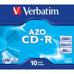 Verbatim Cd-R  Azo Crystal Pack 10 Ud 700 Mb  52X 80Min 43327