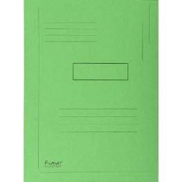 Exacompta Subcarpetas Jura Caja 50 Ud A4 Cartulina 2 Solapas Verde 445013E