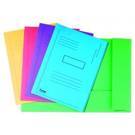 Exacompta Subcarpetas Jura Caja 50 Ud A4 Cartulina 2 Solapas Colores Surtidos 445000E