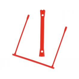 Encuadernador Fastener Q-Connect Plastico D-Clips Color Rojo Caja de 100 Unidades