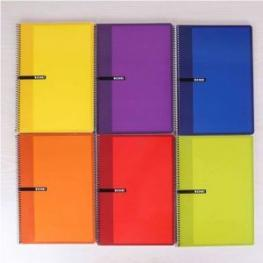 Enri Cuaderno Espiral Folio Cuadricula 4X4 Surtido
