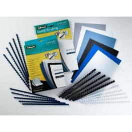 Fellowes Pack de 100 Canutillos Plastico Negros 10 Mm 5346108