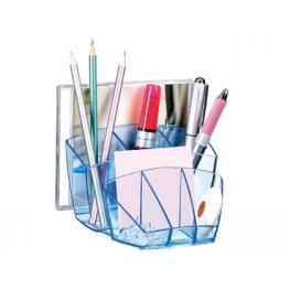 Organizador Sobremesa Cep Confor Ice Blue Plastico Transparente Celeste