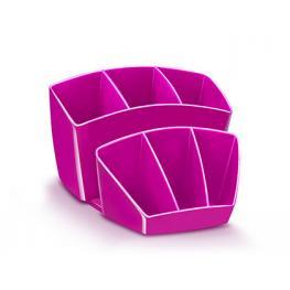 Organizador Sobremesa Cep 8 Compartimentos Plastico Rosa 143X158X93 Mm 1005800371