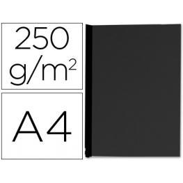 Paq. 100 Contraportadas Carton Simil Piel Negras 250Gr A4 Q-Connet