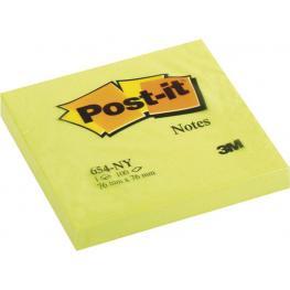 Post-It Notas Adhesivas 100H Amarillo Neon 76X76Mm Ft510010174