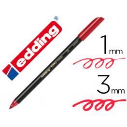 Edding Rotulador Punta de Fibra Mod. 1200 Metallic Rojo Trazo 0.5-1Mm 1200-72