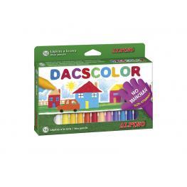 Dacs Estuche Ceras Dacs Colores Surtidos 12 Ud No Manchan Dc050290