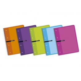 Enri Cuaderno 80H A4+ Cuadricula 5X5 Surtido 100430085