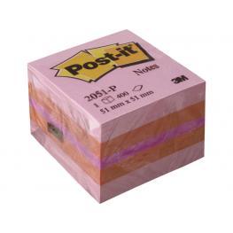 Post-It Cubo Notas Adhesivas 400H Rosa 51X51Mm Ft510091737