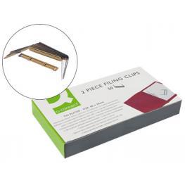 Encuadernador Fastener Q-Connect Dorado Caja de 50