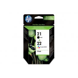 Hewlett Packard Cartuchos Inyeccion 21+22 Negro/amarillo/cyan/magenta 5Ml  Sd367Ae
