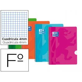 Cuaderno Oxford Fº 4X4 90Gr Tapa Plastico