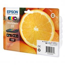 Epson Multipack 5 Colores 33 Claria Premium Tinta