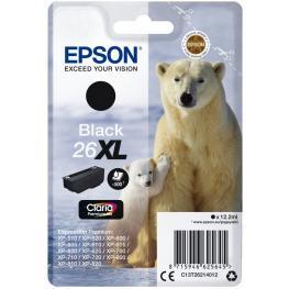 Epson Cartucho Inyección Negro 12,1Ml 500 Páginas 26Xl Xp-600/605/700/800 C13T26214012