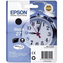 Epson Cartucho Inyección Negro 3,6Ml 350 Páginas 27 Wf-3620Dwf/3640Dtwf/7110Dtw/76Xxdwf C13T27014012