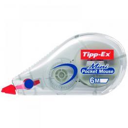 Tipp-Ex Cinta Correctora Mini Poquet Mouse 5Mmx5M Opaca Cuerpo Translucido 812878