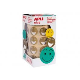 Apli Rollo 900 Gomets Redondos Smile (30 Hojas Micropreforadas) Oro 14374
