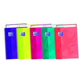 Oxford Cuaderno Ebook1 A4 Tapa Extradura 80 Hojas Soft Touch 5X5 Aqua 400075553