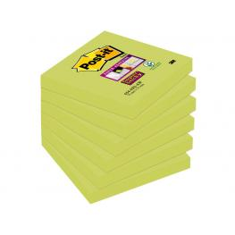 Post-It Pack.6 Bloc 76X76 Ssticky Verde Esparr 70005255867