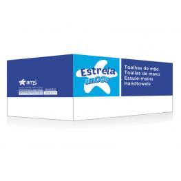 Amoos Caja 20 Paquetes de 200 Toallas de Mano 2 Capas Plegado V 21X22 100% Fibra Pura
