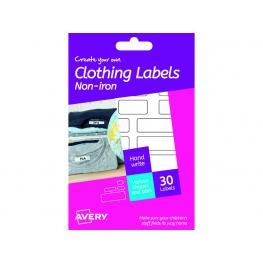 Avery Caja 30 Etiquetas Para Tejidos Sin Plancha Varios Formatos Hni01