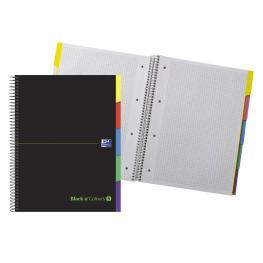 Oxford Cuaderno 5/c Pestañas Tapa Extra Dura A4+100H 5X5 Verde 400088331
