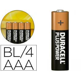 Duracell Pilas Alcalinas Plus Aaa Lr03 Pack 4 Ud