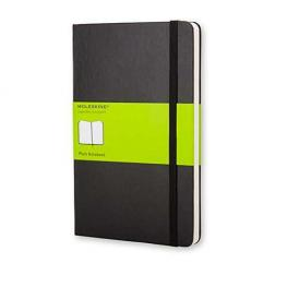 Moleskine Cuaderno Classic Rayado Liso.Tapa Dura Negra.Bolsillo, 9X14Cm.Ref.Qp012