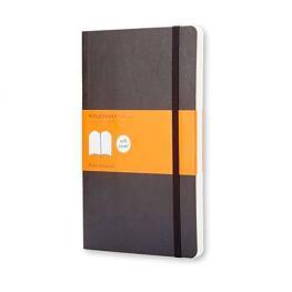 Moleskine Cuaderno Tapa Blanda Color Negro.Rayado Horizontal.Bolsillo, 9X14Cm.Ref. Qp611