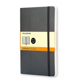 Moleskine Cuaderno Tapa Blanda Color Negro.Rayado Horizontal.Grande, 13X21Cm.Ref. Qp616