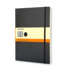 Moleskine Cuaderno Tapa Blanda Color Negro.Rayado Horizontal.Xl, 19X25Cm.Ref. Qp621