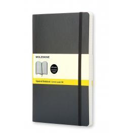 Moleskine Cuaderno Tapa Blanda Color Negro.Rayado Cuadrícula.Bolsillo, 9X14Cm.Ref. Qp612