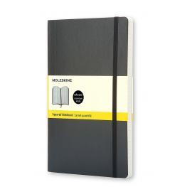 Moleskine Cuaderno Tapa Blanda Color Negro.Rayado Cuadrícula.Grande, 13X21Cm.Ref. Qp617