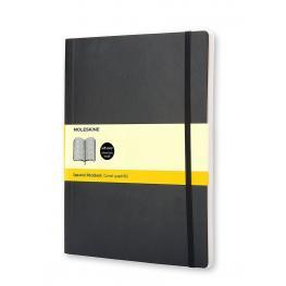 Moleskine Cuaderno Tapa Blanda Color Negro.Rayado Cuadrícula.Xl, 19X25Cm.Ref. Qp622