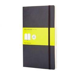 Moleskine Cuaderno Tapa Blanda Color Negro.Rayado Liso.Bolsillo, 9X14Cm.Ref.  Qp613