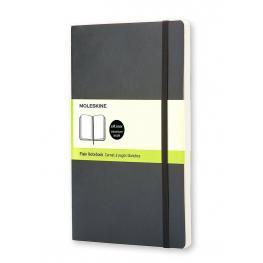 Moleskine Cuaderno Tapa Blanda Color Negro.Rayado Liso.Grande, 13X21Cm.Ref. Qp618