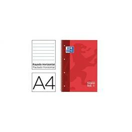 Oxford Cuaderno Microp 1 Sección Formato A4 80H 90G Pautado Rojo Ted  Ref.100430264