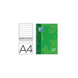 Oxford Cuaderno Microp 1 Sección Formato A4 80H 90G Pautado Verde Ted  Ref.100430265