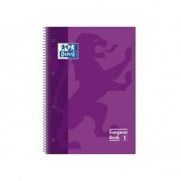 Oxford Cuaderno Microp 1 Sección Formato A4 80H 90G Pautado Lila Ted  Ref.100430267