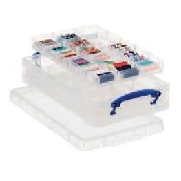 Archivo 2000 Caja de Almacenaje Transparente Con 2 Bandejas. Ru4-2X15Cstp
